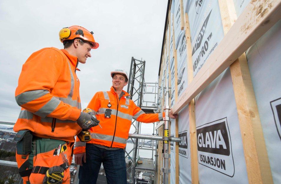 Bestiller varer rett til byggeplass fra Glava Isolasjon